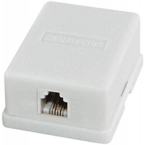 Розетка телефонная TDM Electric 1x6P-4C