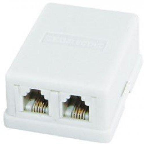 Розетка телефонная TDM Electric 2x6P-4C