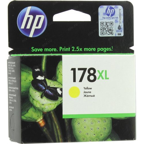 Картридж HP 178XL CB325HE Желтый