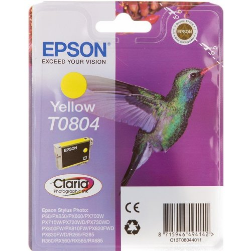 Картридж Epson T0804 (C13T08044011) Желтый