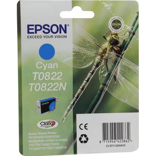 Картридж Epson T0822/T0822N (C13T11224A10) Голубой