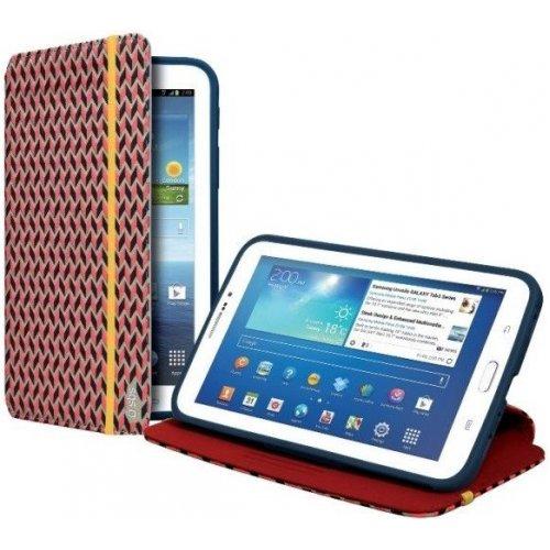 """Чехол (книжка) для планшета 7"""" SBS 184624 Samsung Galaxy Tab 3 Темно-синий с узором"""