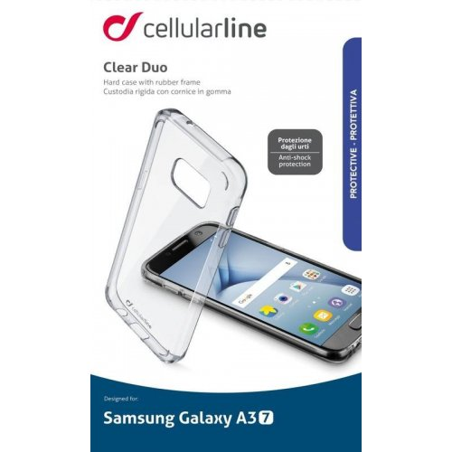 Чехол (клип-кейс) Cellularline Clear duo для Samsung Galaxy A3 Прозрачный