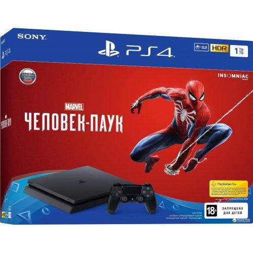 Игровая приставка Sony Playstation 4 1Tb [CUH-2108B] Black +Spider-Man