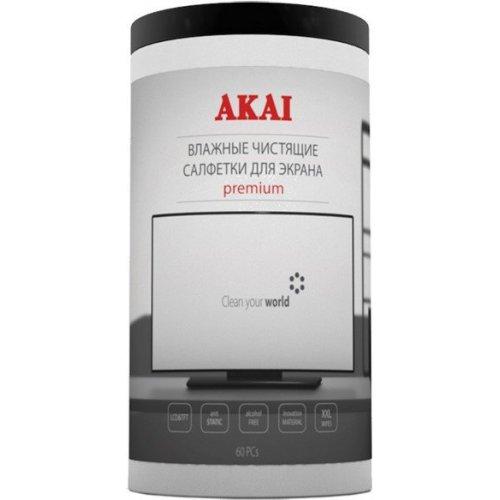 Влажные салфетки для экрана Akai KS-204W туба 60 шт