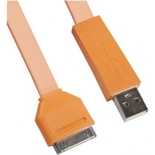 Кабель Liberty Project USB - Apple 30 pin 1M Оранжевый