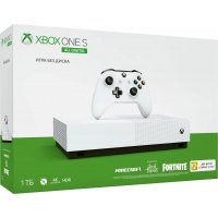 Игровая приставка Microsoft Xbox One S 1Tb All Digital (NJP-00060) +Minecraft...